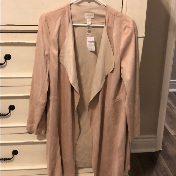 Chico's Jackets & Blazers - Beautiful Chico's Duster Faux Suede Double Face